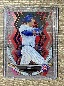 ANTHONY RIZZO #6/10 2019 Topps High Tek Anthony Rizzo Red CHICAGO CUBS