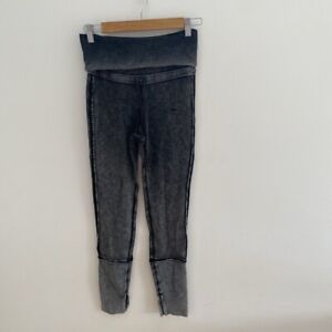 Free People Movement Under It All Leggings. Acid Wash Grey. Small. RRP £98