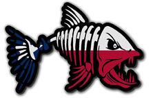 "Texas TX Flag Bone Fish Sticker Decal 6"" Fishing Skeleton"