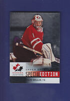Julio Billia 2014-15 UD Hockey Team Canada Juniors Special Edition #SE-27