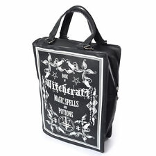 Poizen Industries Gothic Goth Occult Witchcraft Black Book Bag