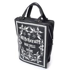 Poizen Industries Gothic Goth Occult Witchcraft Black Book Bag