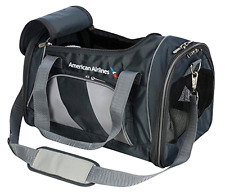 Trave In Comfort Style American Airlines Duffle Pet Carrier, Medium, Charcoal