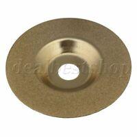 "Diamond Grinding Disc Wheel Glass 4"" For Angle Grinder Golden"