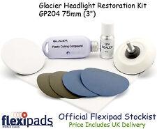 Flexipads Glacier Car / Motorbike Headlight Tail Light Restoration Polishing Kit