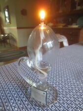 "Hearth & Home CLEAR SPARKING OIL LAMP with Original Tag - 7"" Tall"