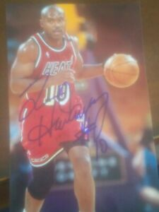 tim hardaway signed 4x6 photo picture autographed signature image nba