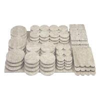 105 Pack Heavy Duty Multipack Felt Pads Sliders for Legs Chair Sofa Furniture