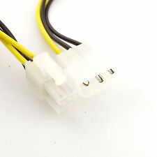 10pcs 4Pin Molex to 4Pin ATX EPS 12V Motherboard Power Supply Adapter Cable