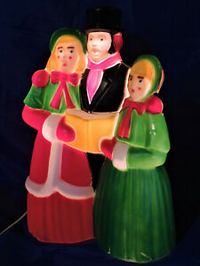 Vintage Empire Victorian Dickens Carolers Christmas Blow Mold Light Yard Decor
