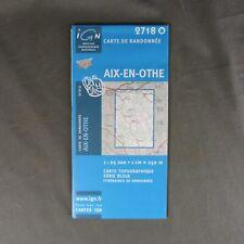 Carte IGN 2718 O - Série Bleue - Aix-en-Othe ( Aube )