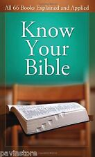 Know Your Bible All 66 Books Paul Kent Explained and Applied Value Book Church