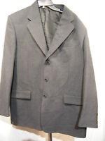 GIANNI MANZONI Mens Gray Suit Jacket  Wool Sport Coat 42L