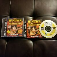 Worms: Armageddon Complete CIB Sony PlayStation 1 PS1 Tested Team 17 Micro Prose