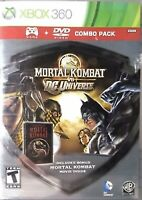 MORTAL KOMBAT VS. DC UNIVERSE Xbox 360 Game & DVD Movie Combo Pack Collectible