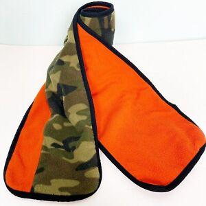 GapKids orange & green camo camouflage fleece SCARF children's kids