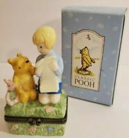 CLASSIC POOH Bear Disney Midwest of Cannon Falls Hinged Ring Box PHB Piglet map