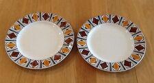 Vintage Kathie Winkle Broadhurst Ironstone Mexico Side Plates Starter Plates