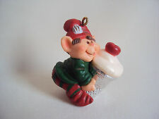 VINTAGE 1983 HALLMARK CHRISMAS ORNAMENT ELF FIGURE NO BOX