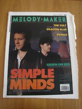 MELODY MAKER 1989 APRIL 8 SIMPLE MINDS CULT DEACON BLUE PRINCE DE LA SOUL