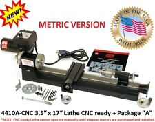 "SHERLINE 4410A-CNC 3.5″ x 17″ Lathe CNC ready + Package ""A"" (METRIC Version)"