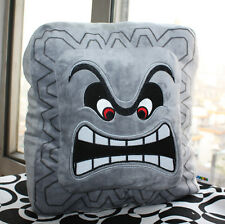 9inch Super Mario Bros Plush Soft Cushion Pillow Thwomp Dossun Doll Cuddly