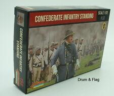 STRELETS Set 156-Confederato Fanteria in piedi-guerra civile americana - 1/72
