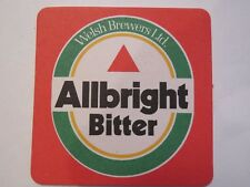 Vintage Beer Coaster ~*~ Welsh Brewers ALBRIGHT Bitter ~*~ Popular Pint in WALES