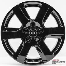 4 Original Audi A6 4G C7 17 Zoll Felgen 4G0601025L 7,5x17 ET37 Schwarz glänzend