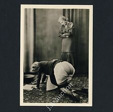 NUDE GIRLS' SPANKING FRAUEN PO NACKT * 1950s Photo of BIEDERER RPPC Lesbian Int
