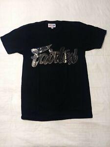 NEW! Fairtex Muay Thai MMA Mixed Martial Arts Mens T-Shirt - Black - UFC