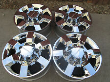 "18"" GMC CHEVY 2500 3500 HD  OEM  FACTORY WHEELS RIMS CHROME DENALI CAPS 2018 A"