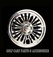 "(4) CHROME 8"" Golf Cart Hub Caps  - EZGO, CLUB CAR, YAMAHA Set of 4 Wheel Covers"