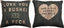 "Pillow ""Love You Bushel and a Peck""  Decorative Couch Farmhouse Decor"