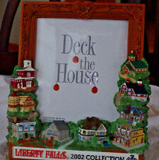 """Liberty Fall 2002 5 X 6"""" Picture Frame"""" Deck The House ~ Christmas Village"""