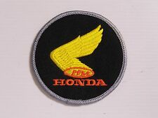 HONDA MOTORCYLES EMBROIDERED PATCH ROUND 80mm WOVEN CLOTH BADGE SEW-ON RACING L