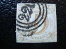ALLEMAGNE (tour et taxis etat du sud) timbre yt n° 44 obl (A4) stamp germany (E)