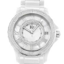 KC DIAMOND Date Watch w/ Genuine Diamonds & Mother of Pearl, .35 ctw -WA005023