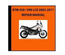 NEW KTM OEM REPAIR MANUAL DISK DVD CD KTM 950 / 990 LC8 2003-2013 3206160