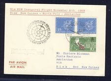 51454) KLM Polar FF Amsterdam - Biak 5.11.58, Karte ab DDR