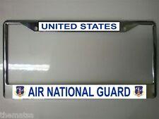 AIR FORCE AIR NATIONAL GUARD CAR CHROME USA MADE  LICENSE PLATE FRAME