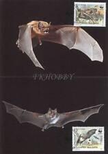 Bulgaria 1989 Mi MK 3741-44 WWF Animals Pets Tiere Zwierzęta Nietoperz Bat