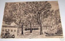 Herman Oliver Albright-1876-1944-India ink drawing