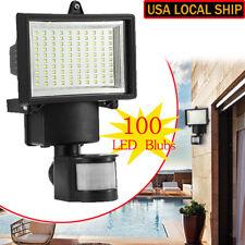 2pcs 100 SMD LED Flood Light Solar Powered Motion Sensor Security Garden Lamp US