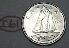 Canada 1987 10 cents Elizabeth II Canadian Dime Lot #I61