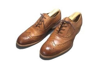MENS FIRETRAP BROWN LACE UP SHOES SIZE uk 8 light tan leather