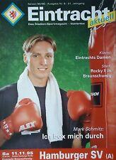 Programm 1995/96 Eintracht Braunschweig - Hamburger SV Am.