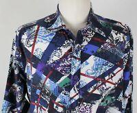 Robert Graham Floral Embroidered L/S Button Up Shirt MENS XL White