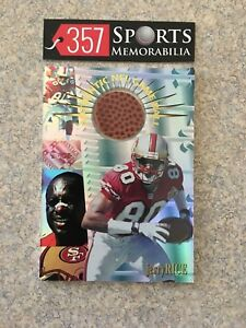 1996 COLLECTORS EDGE ADVANTAGE JERRY RICE NFL GAME USED BALL HOF 49ERS GOAT