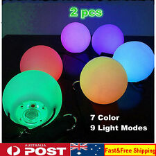 Light Up Poi Balls Pair 7 Color & 9 Function LED Glow Belly Dancer Hand Props